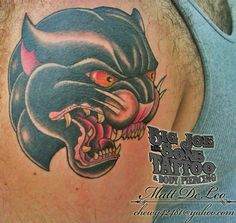 #panther #tattoo #oldschooltattoo