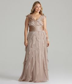 bf3237c10a3 Adrianna Papell Plus Tiered Gown