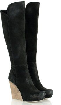 Daniel Black Wisdom Womens Knee High Wedge Boot on shopstyle.co.uk