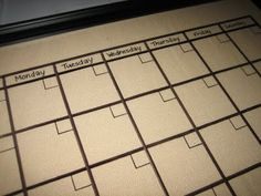 Another picture frame dry erase calendar. This is quickly becoming one of my must try projects.