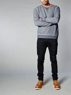 Sweatshirt Organic Melange Blue - Nudie Jeans Co Online Shop