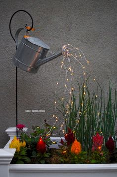 21 Best Watering Can With Lights Images Garden Art Glow
