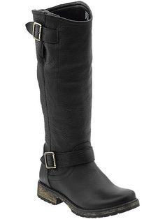 Steve Madden Fairmont Black boots! Want these this year! With some cute leg warmers on! Oh yeah!!