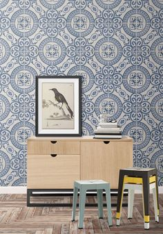 Heritage Tiles Wallpaper from the Kemra Collection