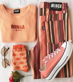 Spring look! Vintage Outfits, Vintage Jeans, Retro Outfits, Cute Casual Outfits, Vintage Clothing, Summer Outfits, 90s Fashion, Retro Fashion, Fashion Clothes