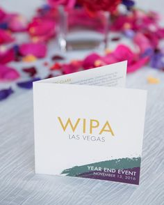 Programs for @wipalv's year end event hosted by @beerparklv @chateaunightclub and @hexxlasvegas at @parisvegas featuring guest speaker Cameron Clark of @cameronkellystudio.