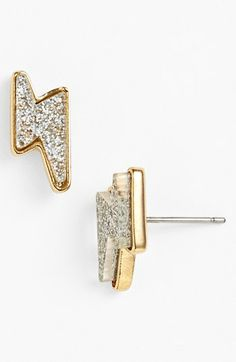 MARC BY MARC JACOBS 'Grab & Go Debbies' Lightning Bolt Stud Earrings available at #Nordstrom