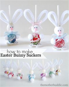 How to Make Easter Bunny Suckers
