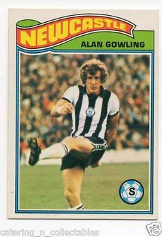 TO- Alan Gowling Newcastle - football card Soccer Cards, Football Cards, Football Players, Baseball Cards, Newcastle United Football, St James' Park, Football Stuff, Back In The Day, Trading Cards
