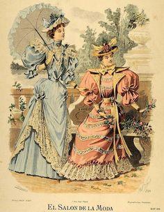 Fashion plate, 1890s.
