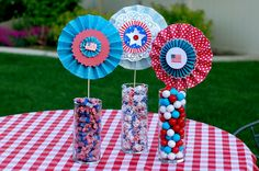 Patriotic Paper Lollies, Perfect for July 4th
