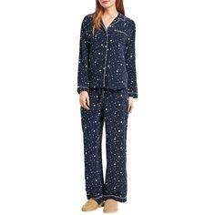 hush Scatter Star Silk Pyjamas ($205) ❤ liked on Polyvore featuring intimates, sleepwear, pajamas, silk pajamas, silk sleep wear, silk pjs, silk pyjamas and button pajamas