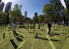 field is an immersive mirrored maze in sydney's hyde park