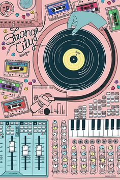 Vintage Graphic Design Strange City Canvas Print - Promotion poster for Strange City Designs. Poster Sport, Poster Cars, Poster Retro, Graphic Design Posters, Graphic Design Illustration, Graphic Design Inspiration, Illustration Art, Graphic Art, Poster Festival