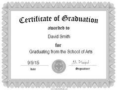 free printable graduation certificate templates