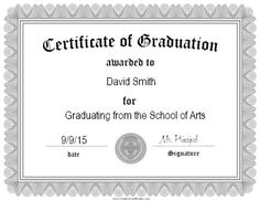 Image Result For Graduation Certificate  Work Misc Projects