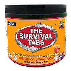 Survival Tabs 7-day Food Supply 90 Tabs Emergency Food Ration Survival MREs Meals Ready-to-eat Bugout Emergency Food Replacement for Travel Camping Boating Biking Hunting Outdoor Activities Also Disaster Preparedness for Earthquake Flood Tsunami Gluten Free and Non-GMO 25 Years Shelf Life Long Term Food Storage - Strawberry Flavor LOHAS FARMS http://www.amazon.com/dp/B00SG3OIOM/ref=cm_sw_r_pi_dp_Ff0Vub19T5PG8