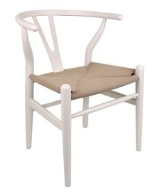 Take a look at this White Wishbone Chair by Control Brand on #zulily today!