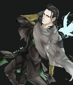 Doh my gosh.<---You misspelled oh,but I understand why!ERMYGERD!Amazing fanart of Loki!