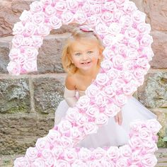 56 Likes, 12 Comments - Collages Birthday Party Games For Kids, Birthday Party Themes, Girl Birthday, Roses For Her, Kids Photo Props, Bright Blue Eyes, Light Pink Rose, Custom Fonts, Milestone Birthdays