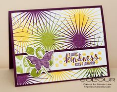 Crush On Colour: A little kindness...  (Stampin' Up 2014 Kinda Eclectic)