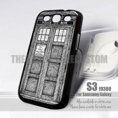 Police Box Doctor Who inspired Design for Samsung Galaxy S3 fit 9300