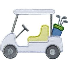 Golf Cart Applique by HappyApplique.com