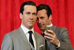 #selfie #celebrityselfie #waxfigurine #JonHamm #MadMen #WebTherapy #MillionDollarArm #DonDraper #ParksandRecreation #Archer #SaturdayNightLive #Bridesmaids #TheTown #lol   http://www.bluetoothselfie.com