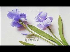 (59) Paper flower tutorial: Paper Iris flowers from crepe paper II - YouTube