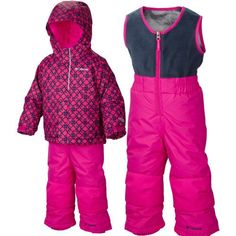 f403a3e42 Columbia boys girls snuggly bunny down insulated snow suit bunting ...
