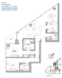 Two bedroom unit(01)