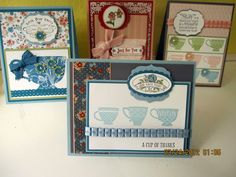 tea shoppe - différentes cartes