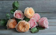 Розы из фоамирана.