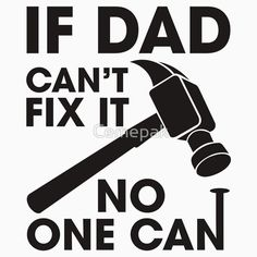 Dad Can Fix It Black