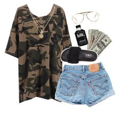 """tacos"" by chanelandcoke ❤ liked on Polyvore featuring Levi's, Puma, CÉLINE and LowLuv"