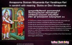 Know the meaning of sanskrit slok of Goddess Annapurna