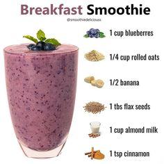 Fruit Smoothie Recipes, Good Smoothies, Smoothie Diet, Breakfast Smoothies For Weight Loss, Weight Loss Smoothies, Healthy Juices, Healthy Drinks, Healthy Diet Recipes, Healthy Meals For Kids