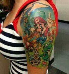 A awesome Super Mario tattoo!