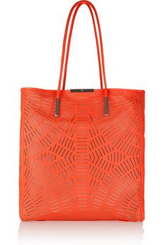 Nice bag design. The pattern creates interest but isn't overpowering.   The orange is too red. Would prefer a brighter orange.