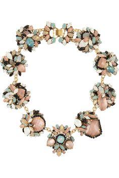 Erickson Beamon Girls On Film gold-plated Swarovski crystal necklace NET-A-PORTER.COM