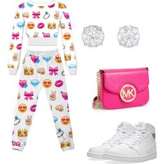 Emoji Outfit by sinahking on Polyvore featuring NIKE and MICHAEL Michael Kors