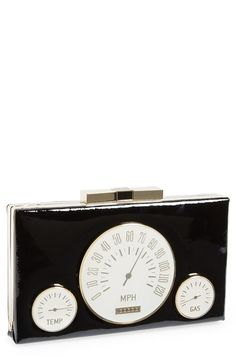 Fun retro-chic dashboard design clutch by Kate spade New York!