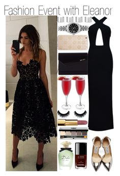 """Fashion Event with Eleanor"" by kiksfashion ❤ liked on Polyvore featuring Posh Girl, Jimmy Choo, Chanel, Dolce&Gabbana, Bobbi Brown Cosmetics, Sonix, Rolex and Maison Margiela"