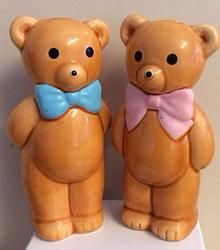 Retro Kitsch Teddy Bear Salt and Pepper Pots