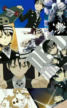 Death the Kid, collage; Soul Eater