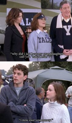 Funny Gilmore Girls scene at Yale! Rory, Marty, and Richard and Emily Gilmore Rory Gilmore, Gilmore Girls Funny, Watch Gilmore Girls, Gilmore Girls Quotes, Best Tv Shows, Best Shows Ever, Favorite Tv Shows, Team Logan, Glimore Girls