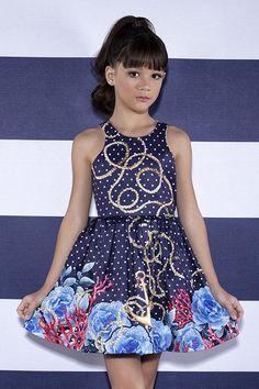 Vestido Miss Cake Moda Infanto Juvenil 510315