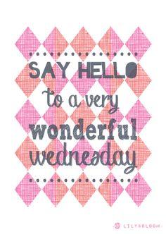 Happy Wednesday .