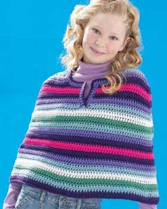 Cool Crochet Poncho in Bernat Super Value. Discover more Patterns by Bernat at LoveCrafts. From knitting & crochet yarn and patterns to embroidery & cross stitch supplies! Shop all the craft materials you need to start your next project. Crochet Poncho Patterns, Crochet Scarves, Crochet Shawl, Crochet Yarn, Crochet Clothes, Free Crochet, Knit Crochet, Crochet Sweaters, Knitting Patterns