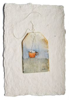 Painted tea bag  www.rubysilvious.com